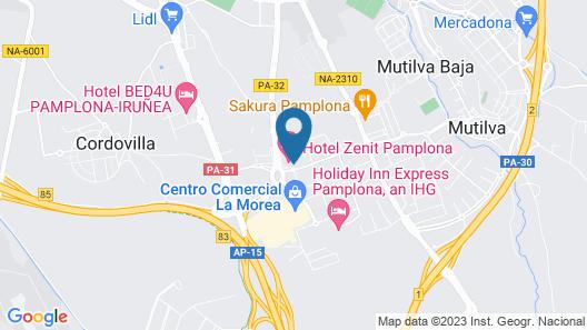 Hotel Zenit Pamplona Map