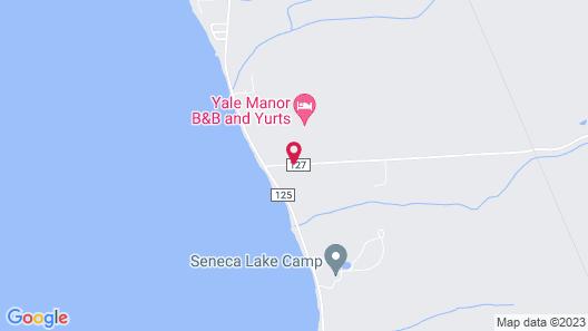 Yale Manor B&B and Yurt Glamping Map
