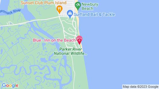 Blue - Inn on The Beach Map