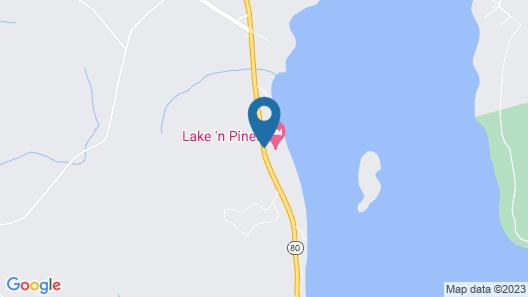 Lake 'N Pines Motel Map