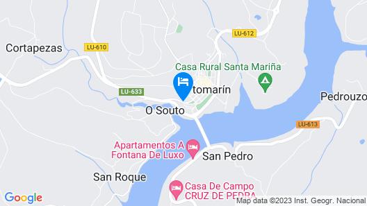 Hotel Ferramenteiro Portomarin Map