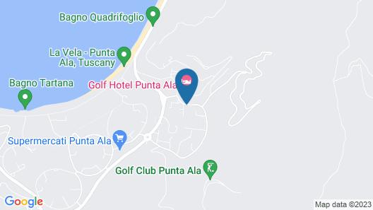 Golf Hotel Punta Ala Map