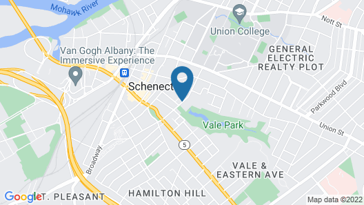 DoubleTree by Hilton Hotel Schenectady Map