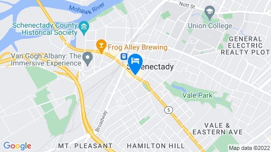 Hampton Inn Schenectady Map