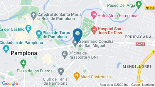 Hotel Alma Pamplona Map
