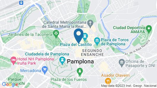 Hotel Castillo de Javier Map