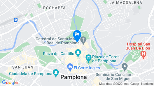 Pamplona Catedral Hotel Map