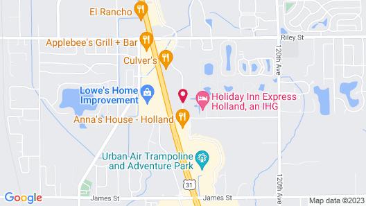 Fairfield Inn & Suites Holland Map