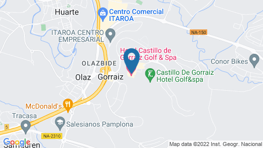 Castillo de Gorraiz Hotel Golf & Spa Map