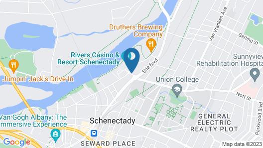 The Landing Hotel at Rivers Casino & Resort Map