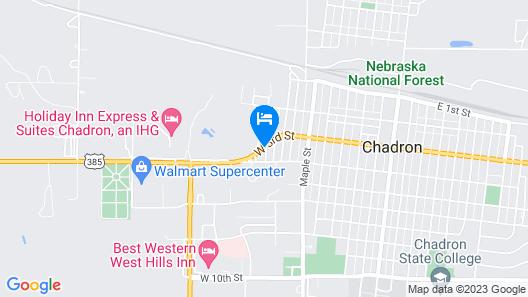 Super 8 by Wyndham Chadron NE Map