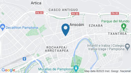 Hostal Pamplona Map