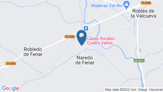 Casas Rurales 4 Valles Map