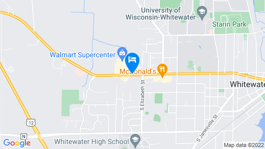 Fairfield Inn & Suites by Marriott Whitewater Map