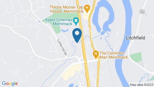 WoodSpring Suites Nashua Merrimack Map