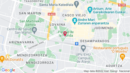 NH Canciller Ayala Vitoria Map