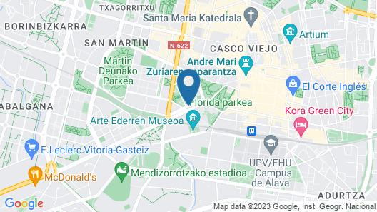 Hotel Silken Ciudad de Vitoria Map