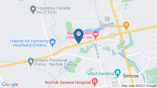 Travelodge by Wyndham Simcoe Map