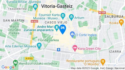 Hotel Centro Vitoria hcv Map