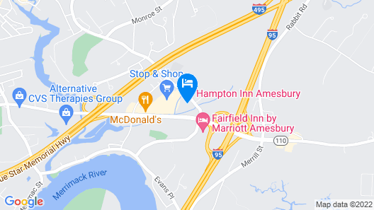 Hampton Inn by Hilton Amesbury Map