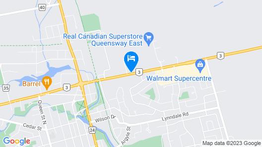 Comfort Inn Simcoe Map