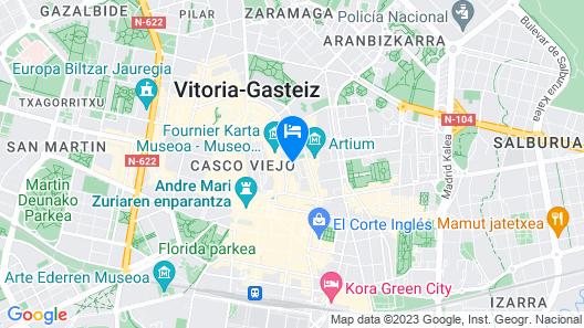 Hotel Arts-Gasteiz Map