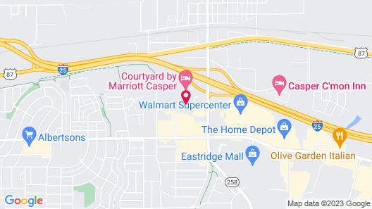 Holiday Inn Express Casper-Interstate 25, an IHG Hotel Map