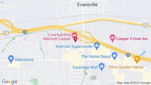 Courtyard by Marriott Casper Map