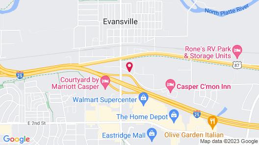 Comfort Inn Evansville - Casper Map