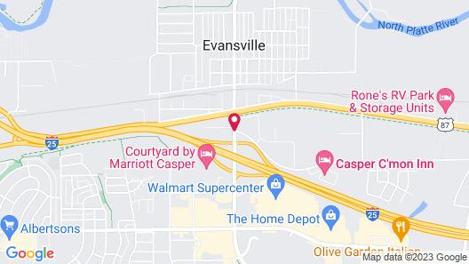 Super 8 by Wyndham Casper East/Evansville Map