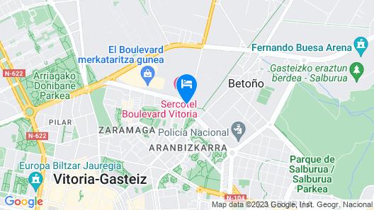 Hotel Sercotel Boulevard Vitoria Map