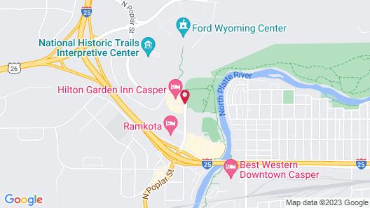 Hilton Garden Inn Casper Map