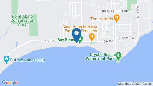 Beach front Blue Lagoon cottage Map