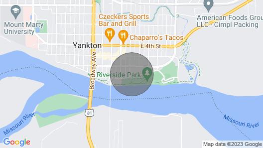 Downtown Yankton Apartment w/ Patio & River View! Map