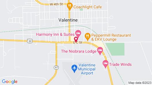 Super 8 by Wyndham Valentine NE Map