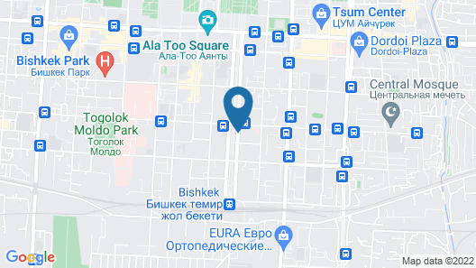 Orion Hotel Bishkek Map