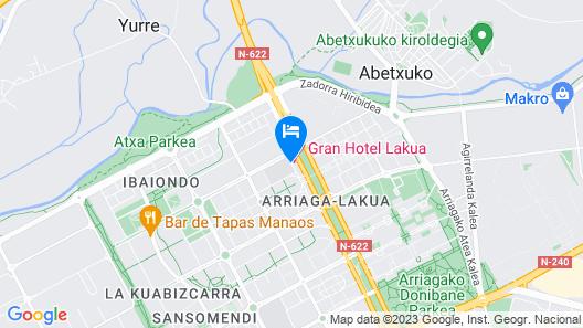 Gran Hotel Lakua Map