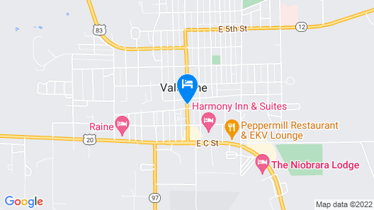 Comfort Inn Valentine Map