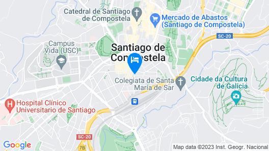 Hotel Gelmírez Map