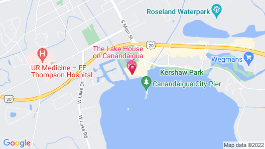The Lake House on Canandaigua Map