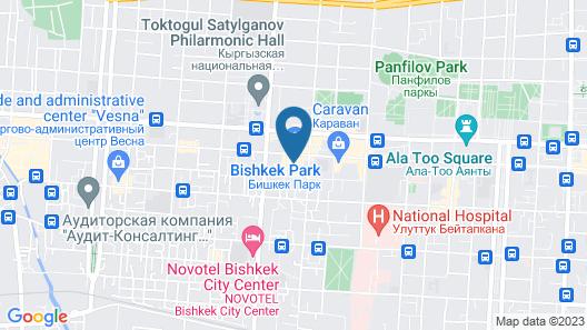 Sheraton Bishkek Map