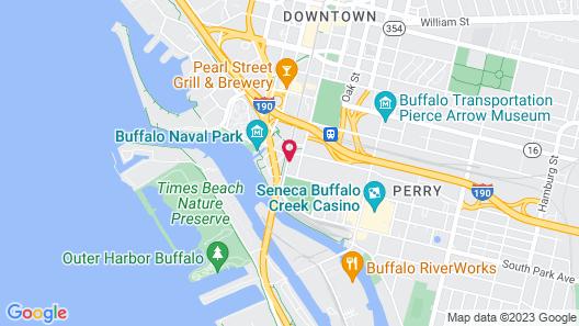 Buffalo Marriott at LECOM HARBORCENTER Map