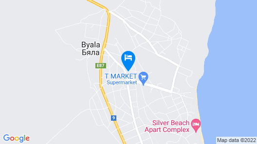 One Bedroom  Sea View Apartment in Byala Map