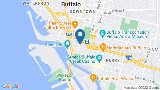 Courtyard Buffalo Downtown / Canalside Map