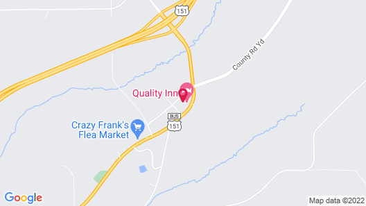 Quality Inn Mineral Point Map