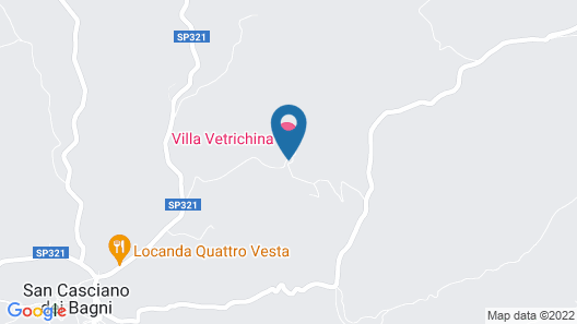 Villa Vetrichina Map