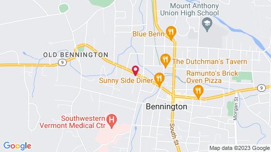 Bennington Motor Inn Map