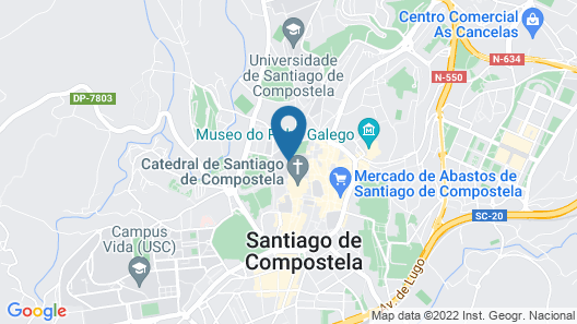 Oxford Suites Santiago de Compostela Map