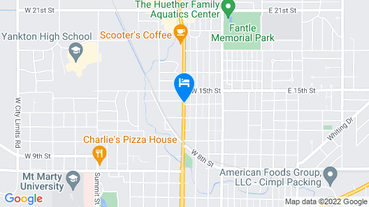 Broadway Inn Yankton Map