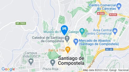 Hostal Pico Sacro I Map
